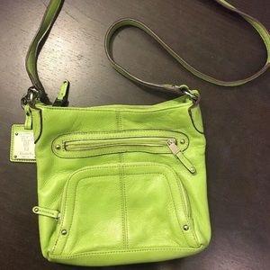 Tignanello Green Leather crossbody