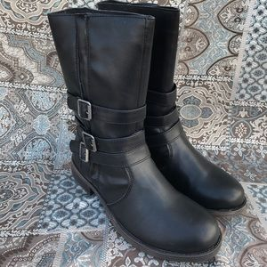 Rampage Faux Motorcycle Style Combat Boot
