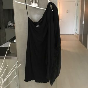 Off the shoulder dress with attached cape/ shall