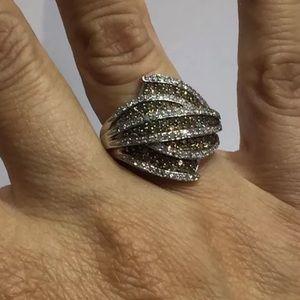 2.25 carat 14k chocolate and white diamond ring