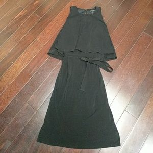 Tiered Ann Taylor Black Dress
