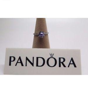 Pandora Cultured Elegance Blue Pearl Ring