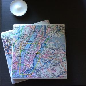 Map Themed Coasters