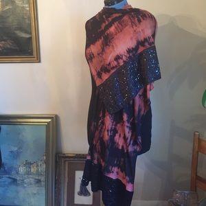 Stunning Sequins Shibori Design Scarf