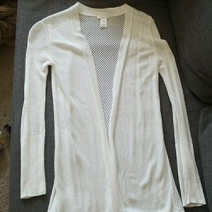 NWOT CACHÈ white lace cardigan sweater