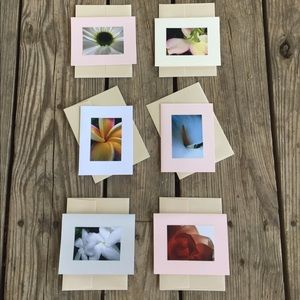 6 original photography greeting cards