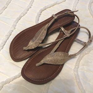 Carlos gold leaf sandals