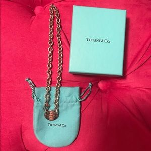 Tiffany & Co oval tag necklace