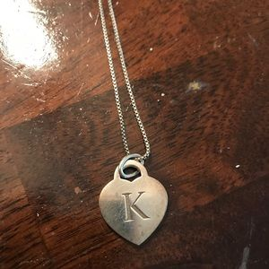 "Tiffany and Co ""K"" Charm Necklace"
