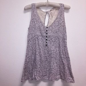 Free People Floral Lace Tank