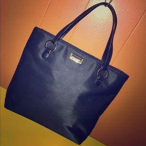 Kate Spade Black Satin Satchel Bag
