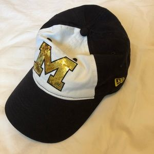 Victoria Secret pink University of Michigan hat