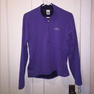 Patagonia purple quarter zip women's medium