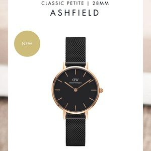 New! Daniel Wellington Watch rose gold x black