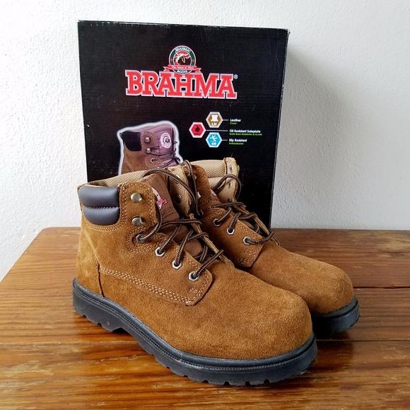 8d14ba37bd1 Brahma Unisex Work Boots Size 8 Men's 9.5 Women's