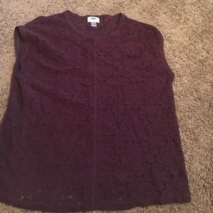 Dark purple blouse laced in front solid in back😍