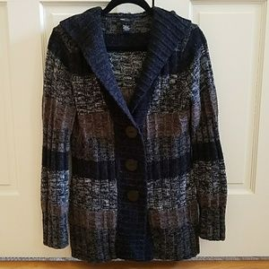 BCBGMaxAzria acrylic wool hooded cardigan