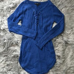 Basic Blue Sweater Dress