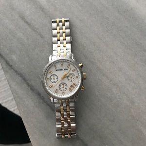 Michael Kors two toned Ritz watch