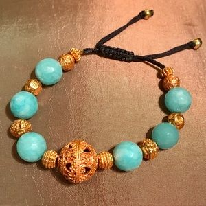 Jewelry - 💠GENUINE BLUE TURQUOISE➕GOLD/SILVER BRACELET💠