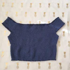 Hollister Blue Crop Top