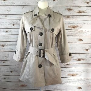 BB Dakota Khaki Belted Trench Coat