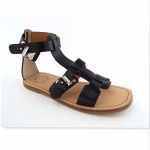 New MARC JACOBS Black Gladiator Buckle Sandals 37