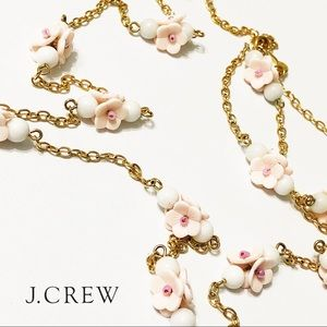 J. Crew Pink Flower Necklace