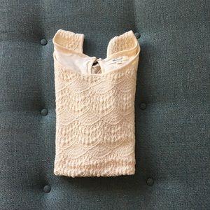 Madewell lace sleeveless top