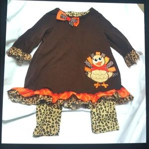 Girls 3T two piece thanksgiving outfit