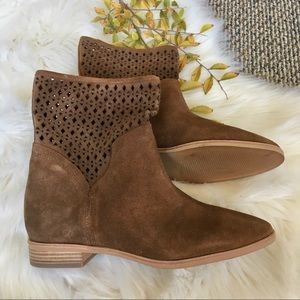 Michael Kors Uma Flat Suede Ankle Boots