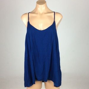 Blue and Black Old Navy Angle Tank
