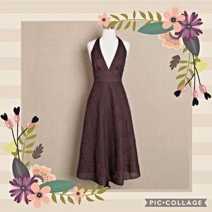 J Crew Brown Halter Dress size S (4-6)