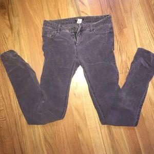 Purple/blue corduroy jeans