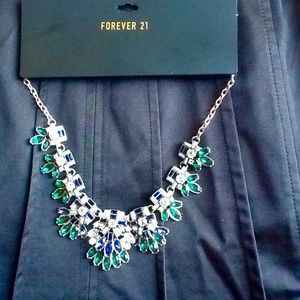 Holiday sparkle Art Deco necklace