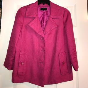 Talbots hot pink linen jacket! Size 6!