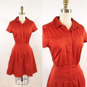 ⭐️ NEW ARRIVAL Banana Republic Orange Shirt Dress