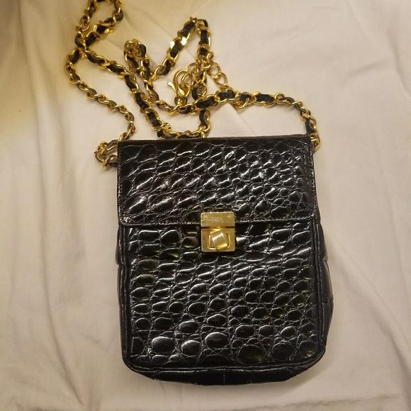 Alfred Roth Handbags - Final Alfred Roth black crocodile small cross body 86a08439ec