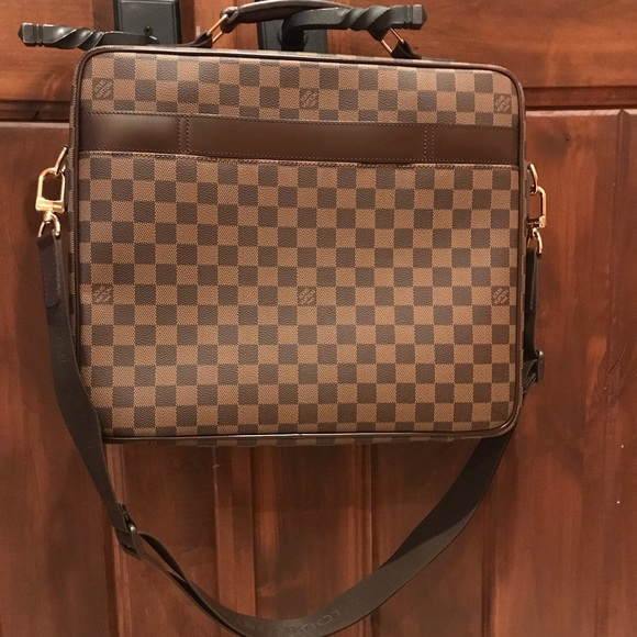 82db8e474a7 Louis Vuitton Bags   Dark Brown Laptop Bag   Poshmark