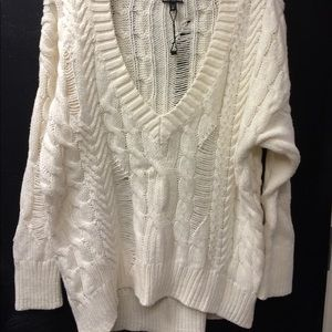 Express distressed sweater. Size M