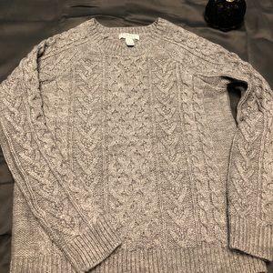 Gray chunky knit sweater