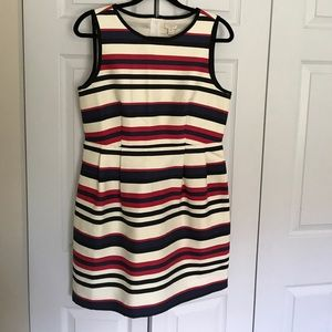 J. Crew striped fit and flare dress.