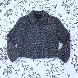Tahari Cropped Wool blazer Jacket sz 2