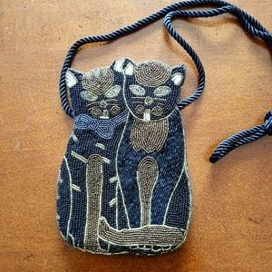 🐱VINTAGE MM Kane Fully Beaded Handbag