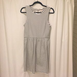 JCrew back and white stripe dress