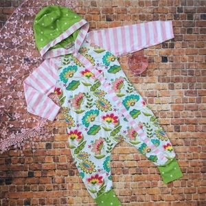 Other - Boutique Baby Girl Stripe & Floral Romper