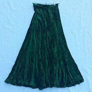 Vintage Yves Saint Laurent Crushed Velvet Skirt