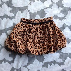 Baby Gap leopard print corduroy bubble skirt 3