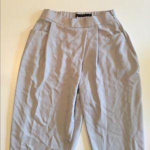 Dusty blue high-waisted trouser