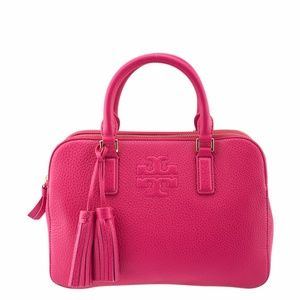 Tory Burch Thea Pink Leather Satchel (136492)